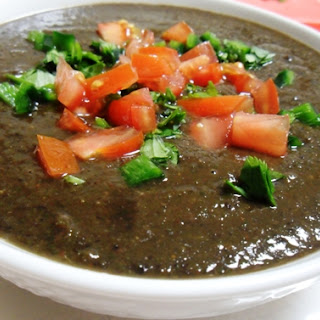 Smoky Black Bean and Spinach Soup.