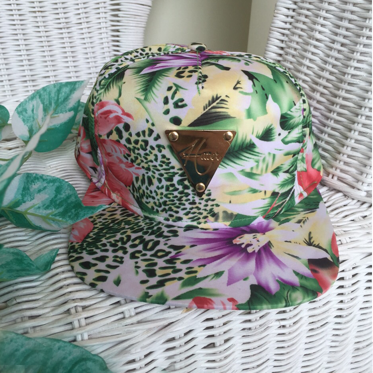 Hawaiian Snapback in White by Le Tea Boutique