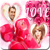Romantic Dual Photo Frames HD