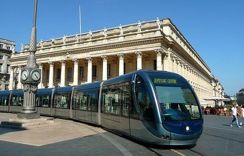 Транспорт Бордо - трамваи в центре Бордо