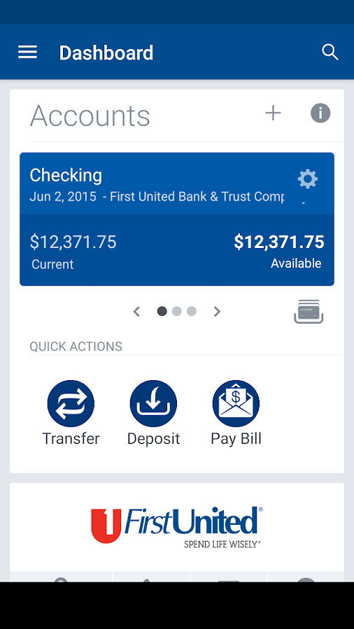 First United Mobile- screenshot