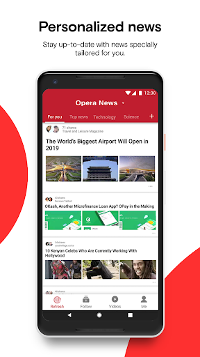 Opera News - Trending news and videos 4.1.2254.128479 screenshots 1