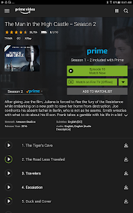Amazon Prime Video- screenshot thumbnail
