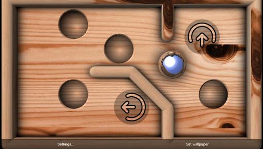 Marble Maze Wallpaper Game XL screenshot