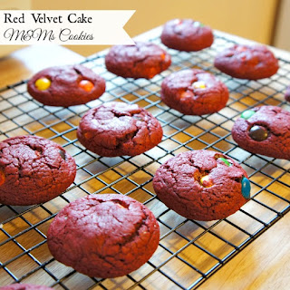Cake Mix Red Velvet M&M's Cookies