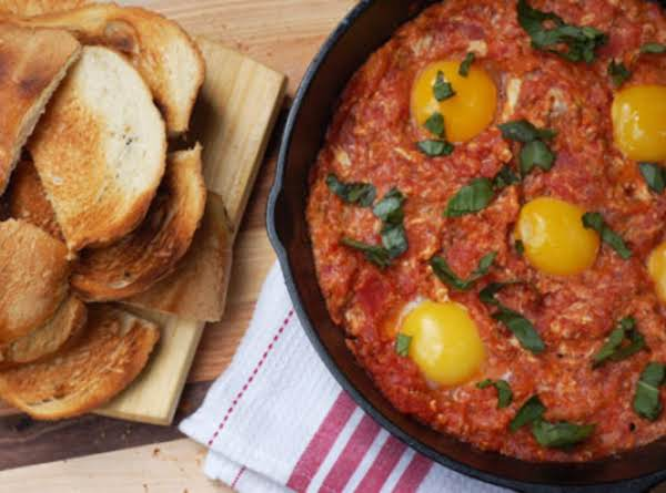 Tomatoes & Eggs On Toast Recipe