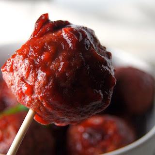 Slow Cooker Cranberry BBQ  Meatballs.