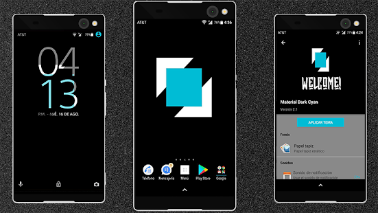 Download MATERIAL DARK CYAN - THEME Apk 2 1,com