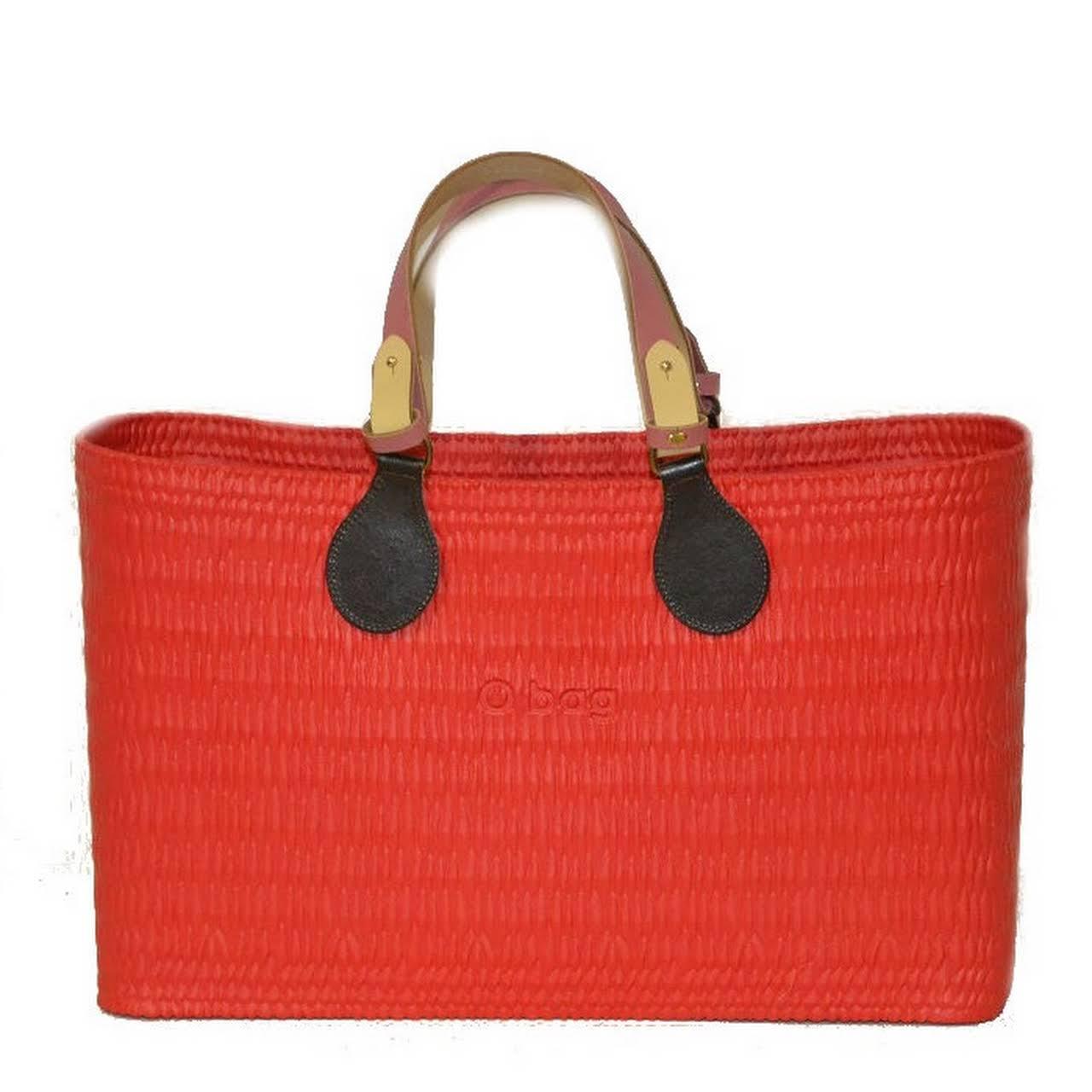 3157421a3a O beach borsa O bag mare rossa con manici e sacca