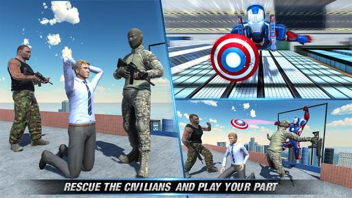 Flying Robot SuperHero Captain Hero Rescue Mission 1.0.1 screenshots 4