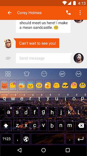 Bustling -Love Emoji Keyboard