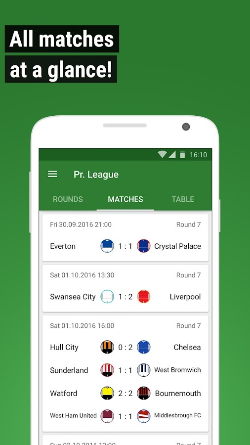 GoalAlert Football Live Scores Fixtures Results- screenshot
