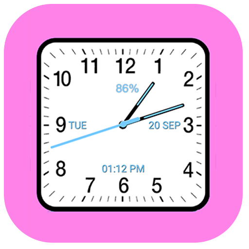 Analog Clock Square Classic Android APK Download Free By Digital World's