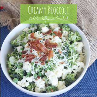 Easy Broccoli and Cauliflower Salad