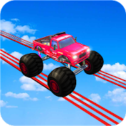 Monster Truck Drive On Impossible Track