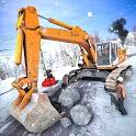 Offroad Snow Excavator: Grand Crane Simulator Game icon