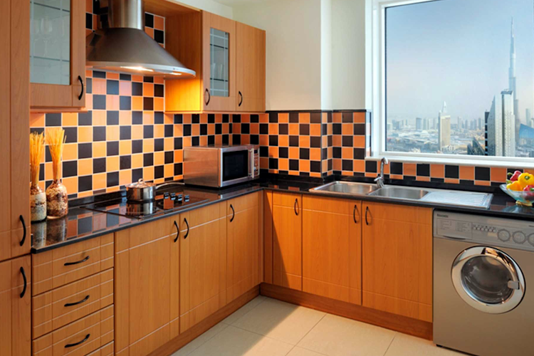 Fully equipped kitchen at Trade Centre Apartments