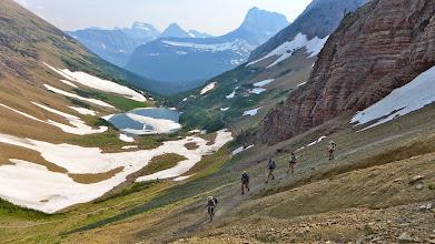 Photo: Heading back down to Many Glacier