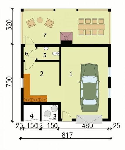G122 - Rzut garażu