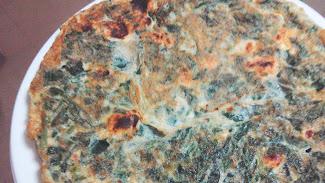 Tortilla de espinacas.