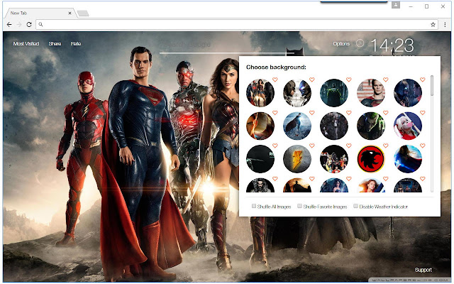 NewTab Themes With HD Wallpapers Of DC Comics Superheroes Such As Justice League Batman Superman The Flash Green Lantern More