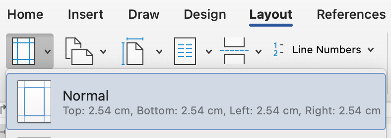 Normal margins in Word are set to one inch, which is fine for you resume; feel free to reduce it to 0.75 inches to fit more on a page