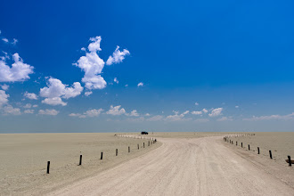 Photo: Viewpoint onto the salt pan. Etosha National Park, Namibia