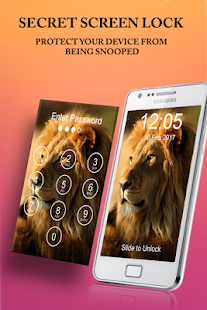 Lion Passcode Lock Screen - náhled