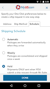 MyUS Global Shipping App- screenshot thumbnail
