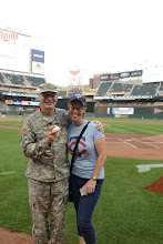 Photo: Maj. John Donovan poses with his wife, Leann, before throwing out the first pitch at Target Field on Sept. 1, 2015. Donovan celebrated in the pregame pageantry on behalf of Minnesota Recovery Connection to kick off National Recovery Month, which aims to raise awareness of the support services available to help people overcome drug and alcohol addiction. Minnesota National Guard photo by Army Staff Sgt. Patrick Loch/ Released