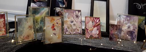 expo _salon de noel _fontainebleau_ jeux de dames 2019_aquarelles Jeanne PAPA 03