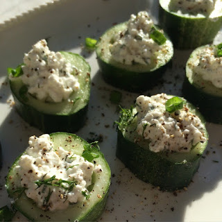 Cucumber and Dill-infused Cottage Cheese Appetizer.