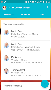 Vacation Tracker - náhled