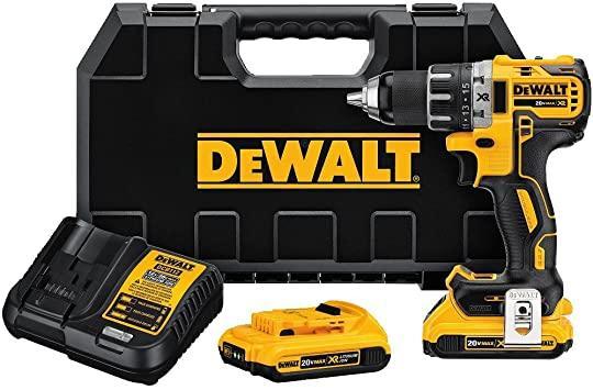 DEWALT 20V MAX Cordless Drill / Driver Kit, Brushless, 1/2-Inch (DCD791D2)