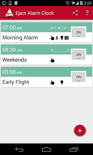 Eject Alarm Clock