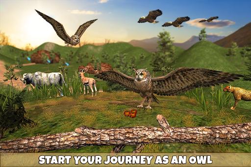 Wild Owl Bird Family Survival apklade screenshots 1