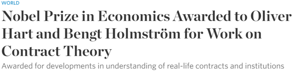 Nobel Prize in Economics Awarded to Oliver Hart and Bengt Holmström for Work on Contract Theory   WSJ.png