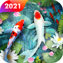 Koi Fish Live Wallpaper Themes icon