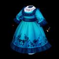 青いルネッサンスドレス