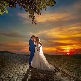 wedding by Dejan Nikolic Fotograf Krusevac - Wedding Bride & Groom ( bride, groom, beograd, kalemegdan, krusevac, sunset, dejannikolic, vencanje, wedding, svadba, fotograf )