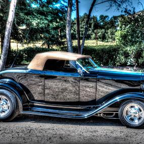Running Empty by Jebark Fineartphotography - Transportation Automobiles ( car, deuce, automobile, 32, auto, roadster, hot rod, 1932 )