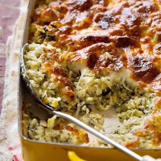 Spinach and Artichoke Rice Casserole.