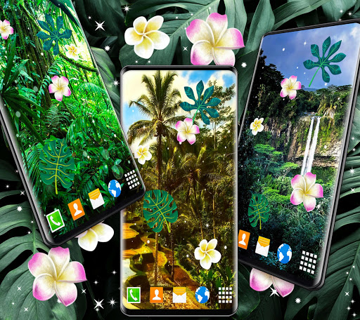 Jungle Live Wallpaper 🌴 Palm Forest Themes ss2