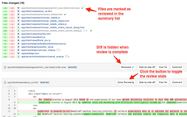 BitBucket Pull Request Review Helper