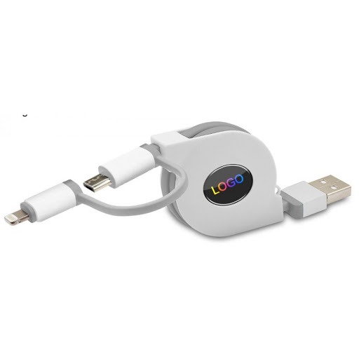 multifunctional lightening and micro USB charging cable