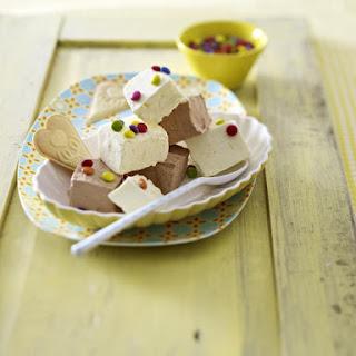Chocolate and Vanilla Ice Cream Squares.