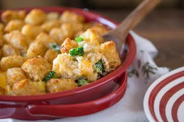 Cheesy Broccoli Tater-Topped Casserole