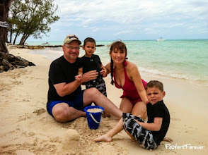 Photo: Our family enjoyed playing in the sand on the beach.