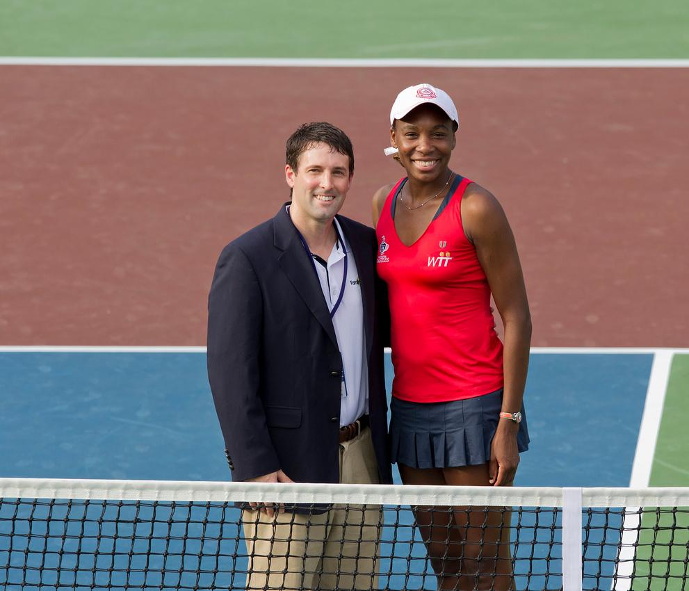 Dr. David with tennis champion Venus Williams