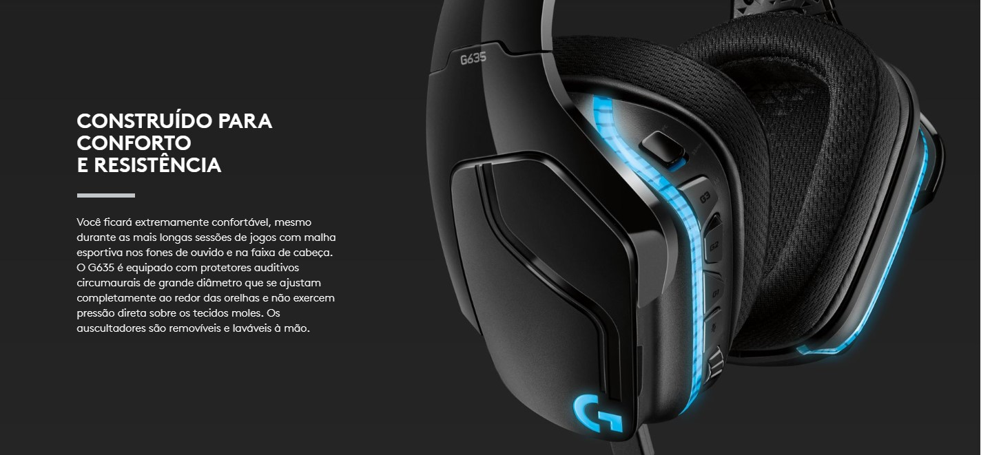 Fone Headset Gamer Logitech G635 Audio 7.1
